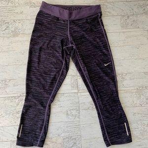 Nike Dri-Fit Running Crops EUC Purple